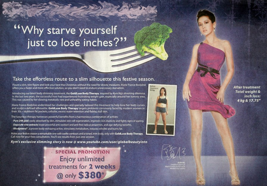 Marie-France-Advert Weight loss